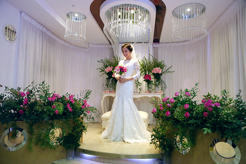 Bride waiting room in Hanyang University